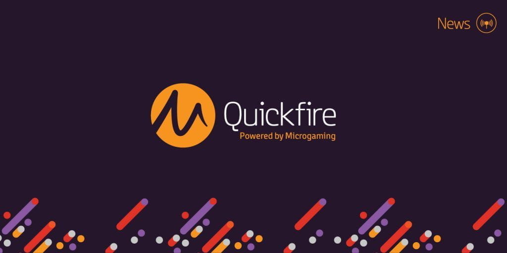 Quickfire and Microgaming's combined logo.