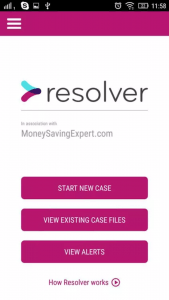 A screenshot of the Resolver tool on mobile.