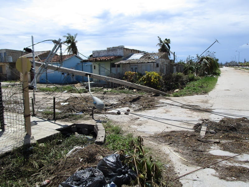 Damage caused by Hurricane Irma in Cuba