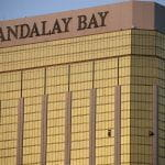 Mandalay Bay casino and broken window