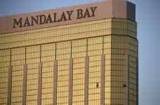 Mandalay Bay casino and broken window