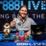 Tom Hall, winner of the 888live London Main Event