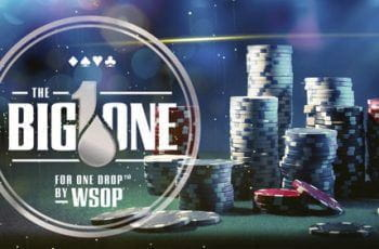 A promotional image for The Big One for One Drop poker tournament