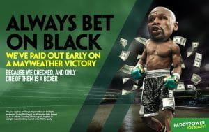 The Paddy Power advert that caused controversy in August 2017.