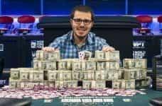 Dan Smith with his $1.4m winnings