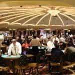 Poker in a casino
