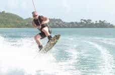 Calvin Ayre wave boarding