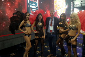 Hired promotion girls at the ICE Gaming Conference in 2016