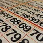 Numbers on a bingo card