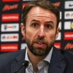England Manager Gareth Southgate at a press conference.