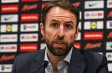 England Manager Gareth Southgate at a press conference.