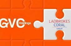 The logos for GVC and Ladbrokes Coral.