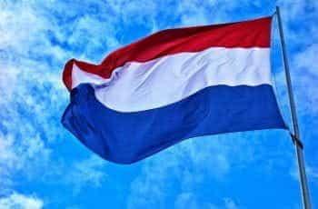 The Dutch flag flying high.