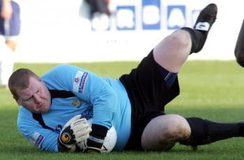 Wayne Shaw playing for Sutton United.