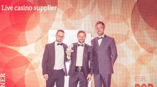 The team from Evolution Gaming were presented with an award for Live Casino Supplier of the Year at the EGR B2B Awards.
