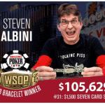 Steve Albini Celebrates World Series of Poker Victory