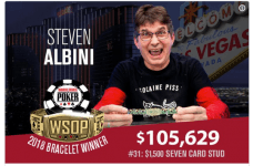 Steve Albini Celebrates World Series of Poker Victory