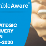 The GambleAware Strategic Delivery Plan for 2018-2020 logo.