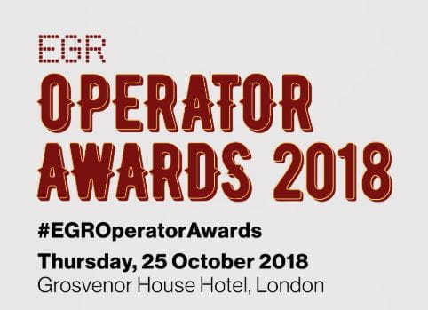 Announcement of the date and location of the 2018 EGR Operator Awards