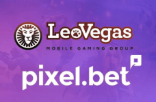 The LeoVegas and Pixel.bet logos