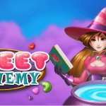 Image showing the witch main character of the Sweet Alchemy slot game from Play'n GO