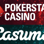The Casumo and Pokerstars logos