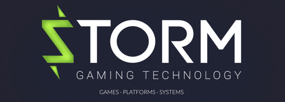 Storm Gaming Technology logo.