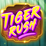 The promotional title card for Tiger Rush slot game from Thunderkick