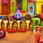A promotional title card for the Betsoft slot game ChilliPop