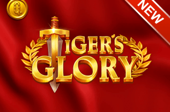 A promotional title card for Quickspin's new slot that says Tiger's Glory.