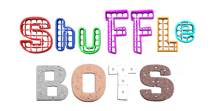 The logo of Shuffle Bots, from Realistic Games.