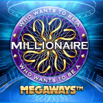 Promotional image for Who Want to be a Millionaire? slot game.