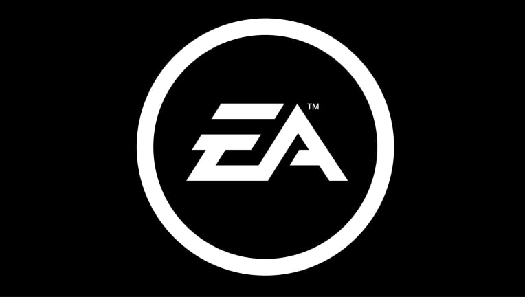 The logo of gaming company Electronic Arts.
