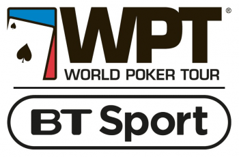 Logos of the World Poker Tour and BT Sport.