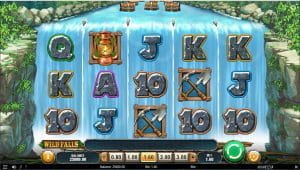 The Wild Falls in-game view, of the slot grid