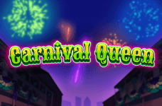 The title card for the Carnival Queen slot game by Thunderkick