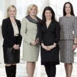 CEO ADMIRAL Casinos & Entertainment AG Dr. Monika Racek with the Members of the Supervisory Board Barbara Feldmann, Martina Flitsch and Martina Kurz.