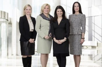 CEO ADMIRAL Casinos & Entertainment AG Dr. Monika Racek with the Members of the Supervisory Board Barbara Feldmann, Martina Flitsch and Martina Kurz.
