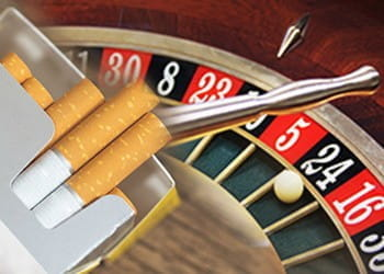 A roulette ball and a packet of cigarettes,