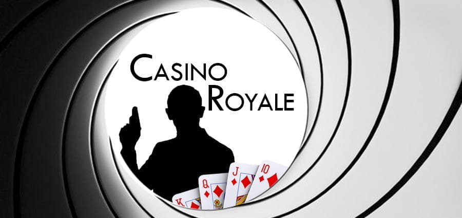 logo for the James Bond film, Casino Royale.