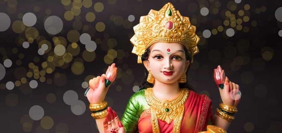 The goddess Lakshmi.