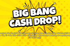 The text Big Bang Cash Drop on a yellow background.