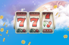 Jackpot numbers hanging in the sky.