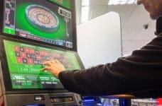 FOBT machines in a high street shop.