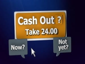 Screen grab from Cash Out advert.
