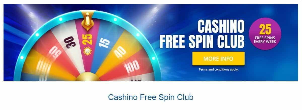 Cashino Free Spins