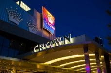 The outside of the Crown Casino in Melbourne.