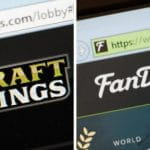 DraftKings and FanDuel sites side by side.