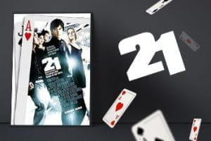 Movie poster for the film 21.