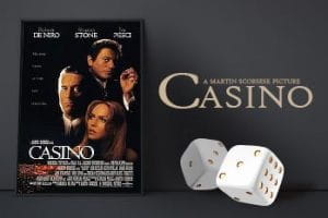 Movie poster for the film Casino.